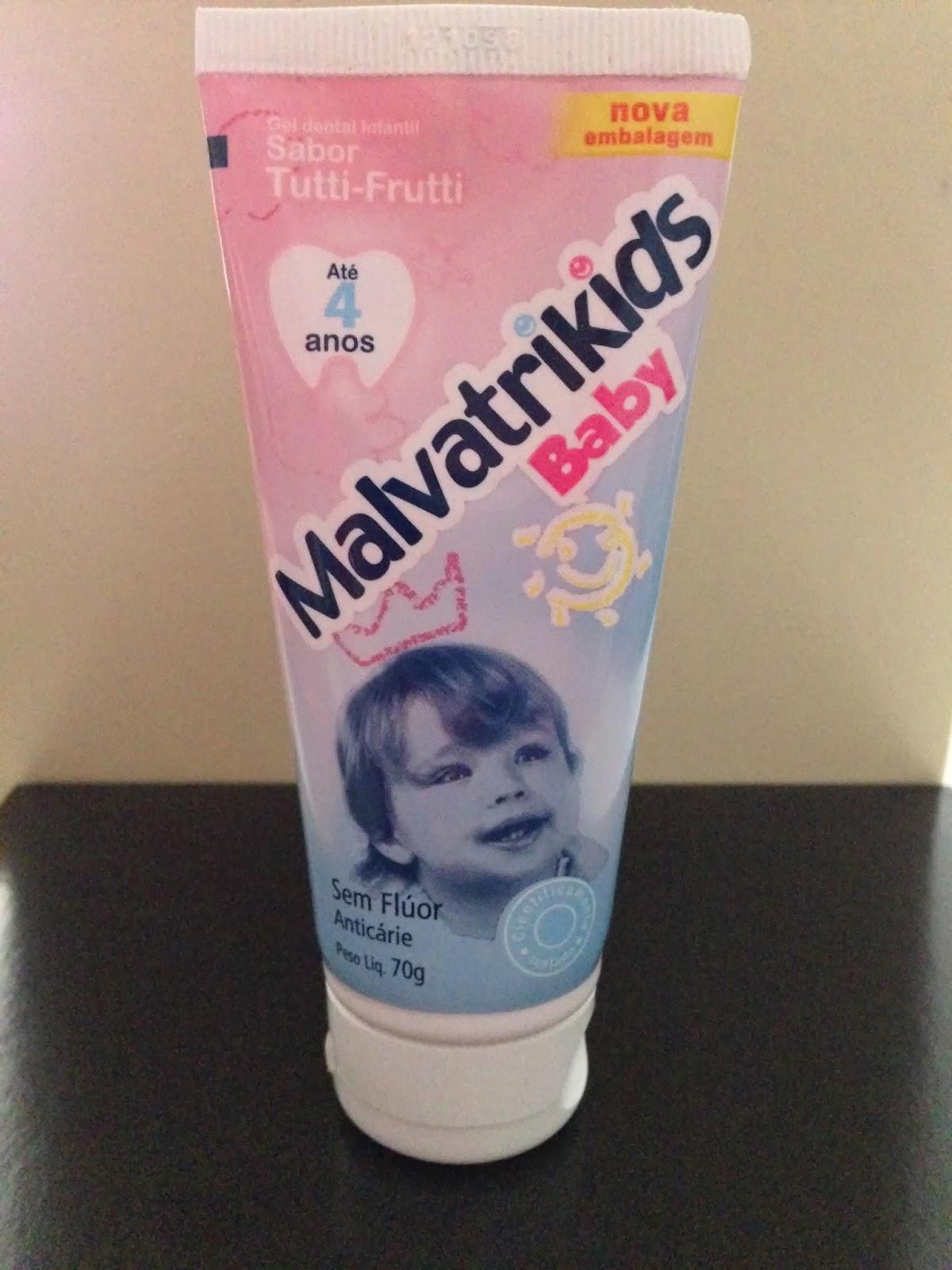 laboratório daudt malvatrikids baby gel dental infantil até quatro anos
