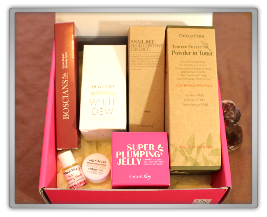 겟잇뷰티박스 by 미미박스 memebox beautybox # special #9 Skincare unboxing review preview box look inside