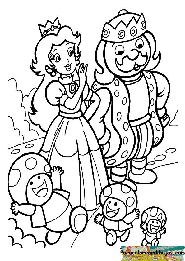 personajes de mario para colorear