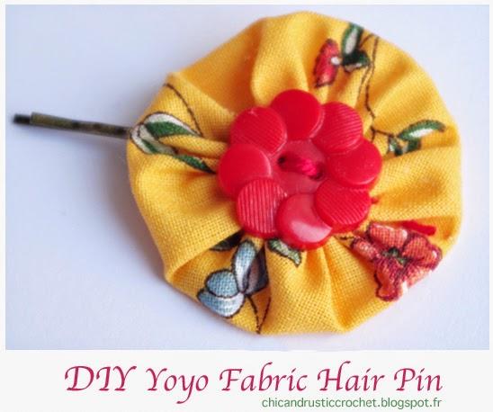 DIY Hair Pin Barrette - Chez Violette