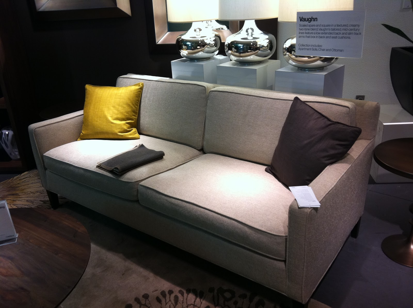 Etonnant Next Up, We Have The Vaughn Apartment Sofa, Which Is Beautiful! It Has  Clean Lines And A Classic Look But No Tufting. And Itu0027s $1399 Despite Not  Having A ...