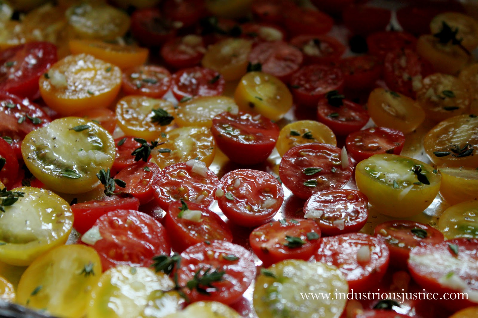 industrious justice: Recipe: Slow Roasted Tomatoes