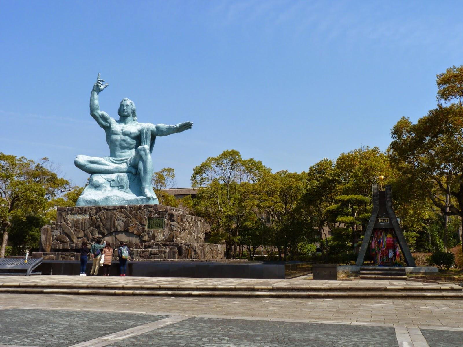 Parque da Paz em Nagasaki no Japão