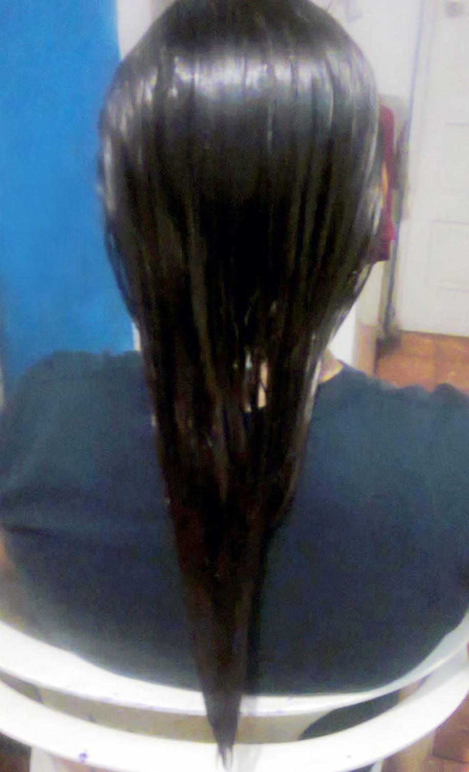 El tratamiento de los cabello después del enderezamiento