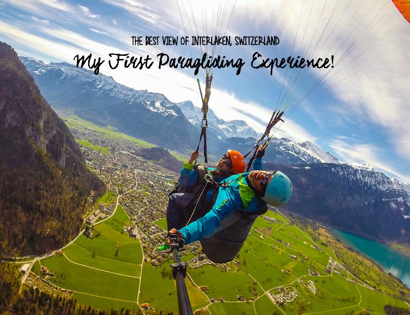 The best view of interlaken switzerland from paragliding