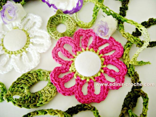 dvd flores em croche 5 volumes da coleção aprendi e ensinei com edinir-croche blog loja video aulas frete gratis