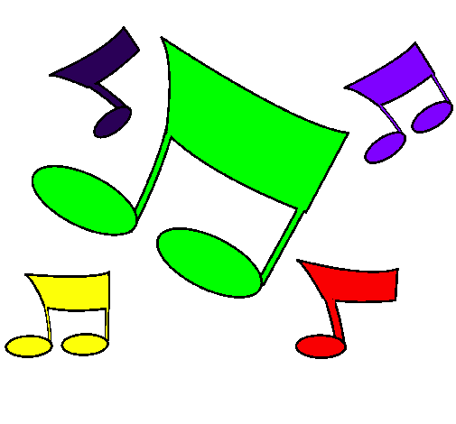 Partecipazione civica corte franca bambini tutti in coro - Note musicali da colorare pagina da colorare ...