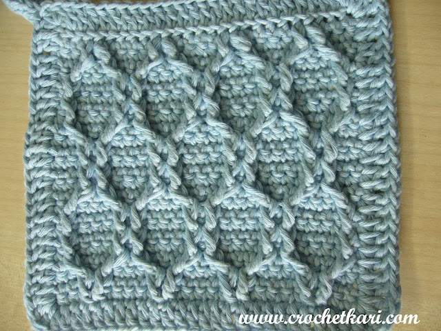 crochet honeycomb stitch detail