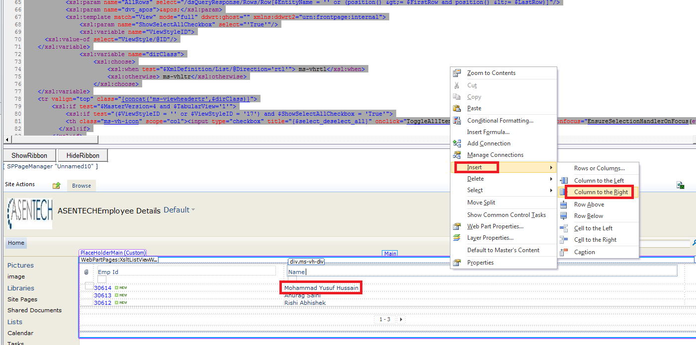 Sharepoint display item attachments in sharepoint list view for Html td width
