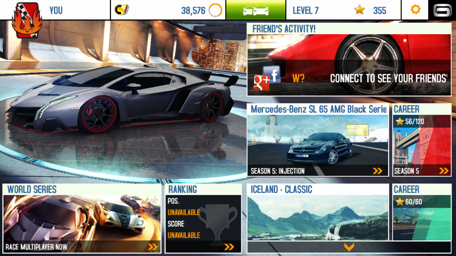 asphalt 8 top android hd games 1app4me solution jeux. Black Bedroom Furniture Sets. Home Design Ideas