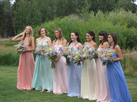 Our interview with joanna of joanna august bella bridesmaids joannas bridesmaids on her wedding day junglespirit Gallery