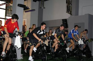 Ciclo indoor en Corpore. 1º BACH 2012