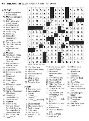 The New York Times Crossword in Gothic: 02.06.13 — O Sole Mio