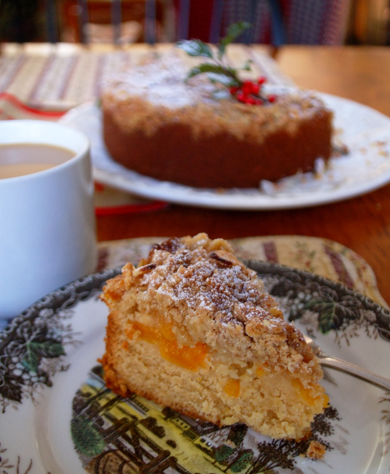 Recipe for apricot crumble cake