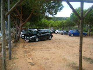 Parque de estacionamento junto á praia