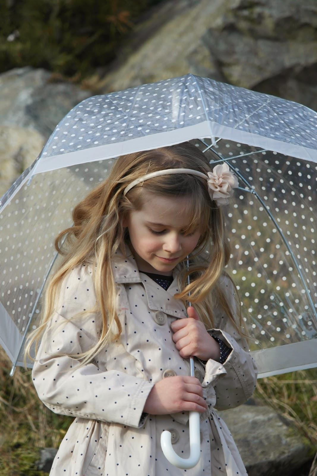 Nutmeg Morrisons Spot print rain mac