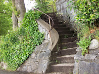 Rocky stairway leading to top part of Vancouver Stanley Park