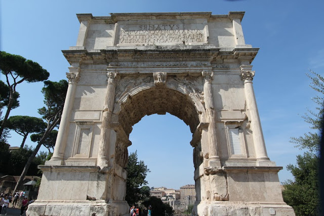 Arch of Titus at Roman Forum in Rome, Italy