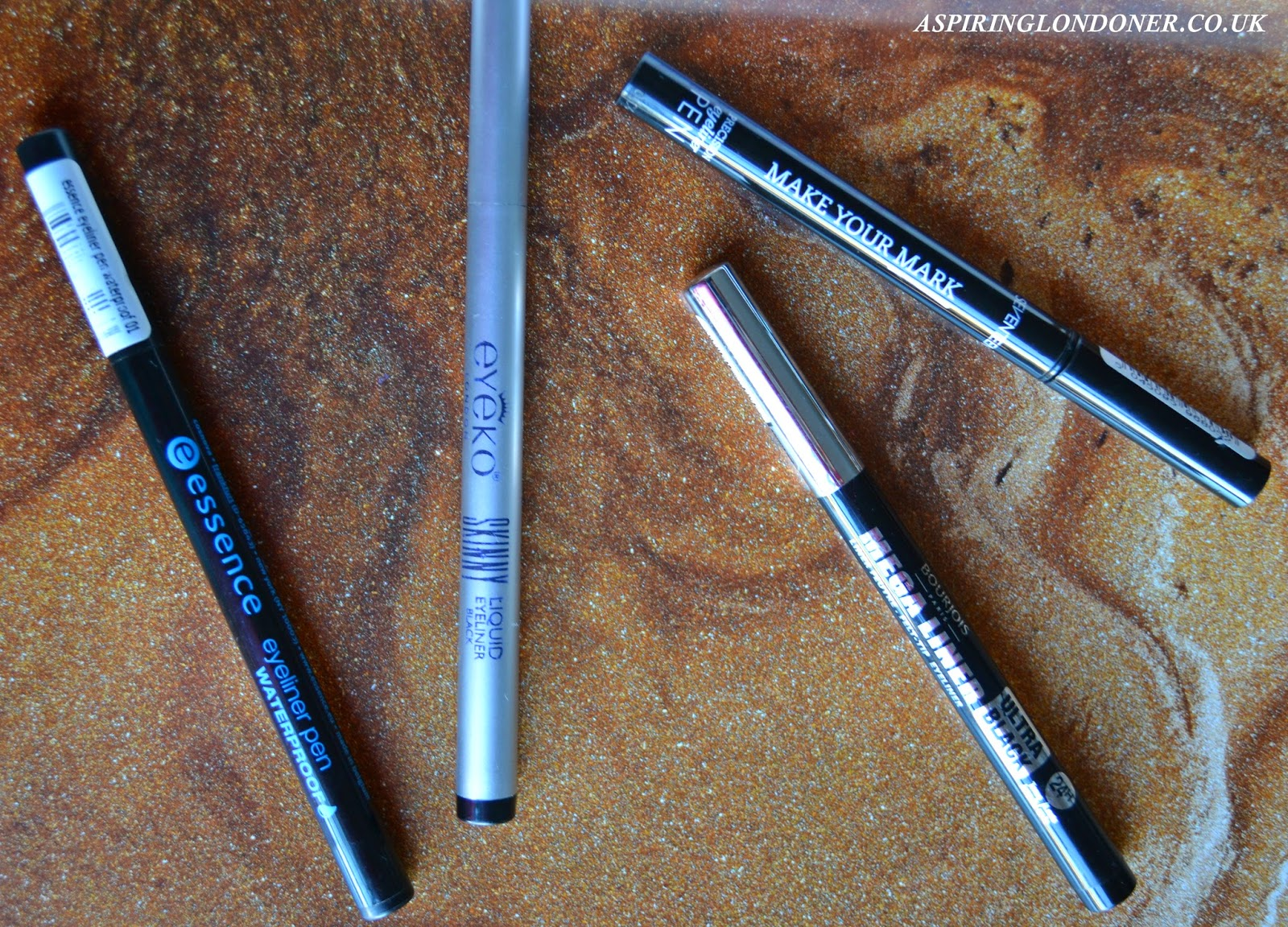 Eyeliner Pens ft Seventeen, Eyeko, Bourjois & Essence - Aspiring Londoner