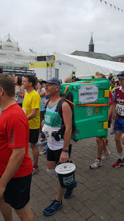 Colin Bell running for shelter box in the Truro Half Marathon 2015
