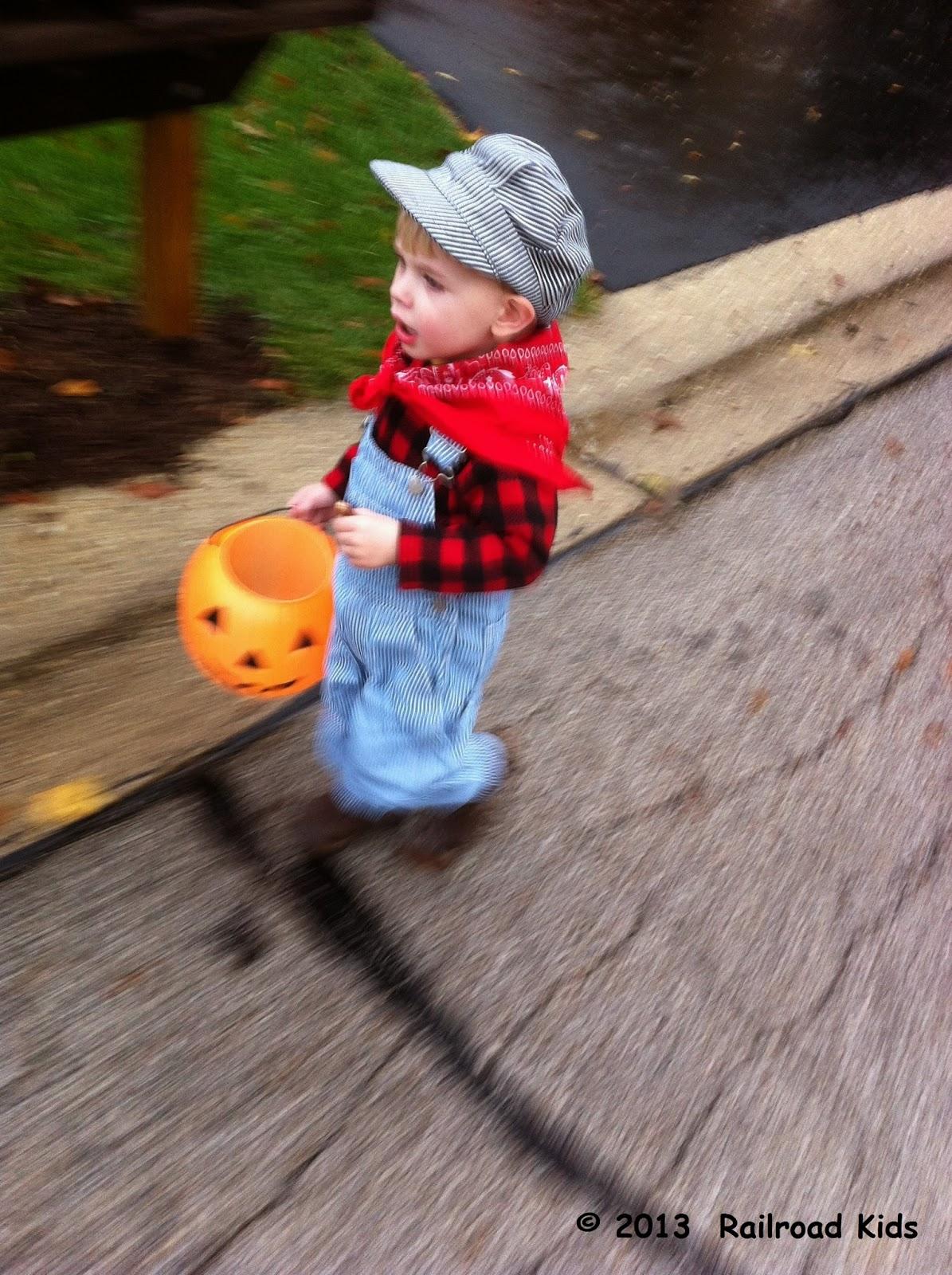 & Railroad Kids: Halloween Costume: Train Engineer Redux