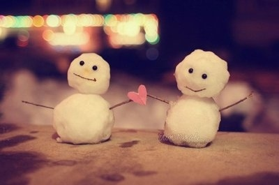 Snow couple, snowmen & snow women