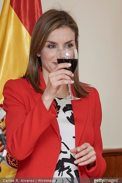 Queen Letizia of Spain visits the Artillery Military Academy on April 13, 2015 in Segovia, Spain