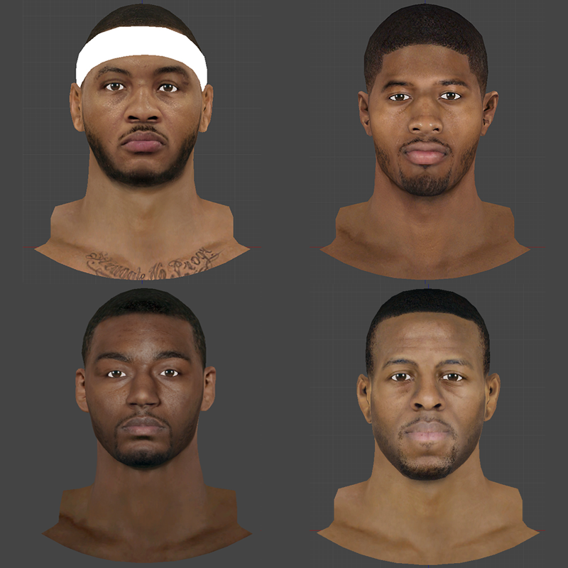 NBA 2K14 Cyberface Pack #1 (Melo, Iggy, PG24, Wall)