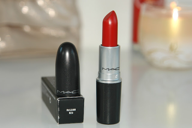 MAC Russian Red lipstick, MAC, lipstick, statement lips, red, make up, review, swatches, UK beauty blog