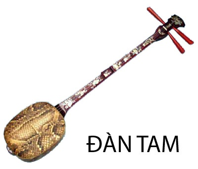 Dan tam three string lute vietnam traditional instruments for Dans boum boum tam tam