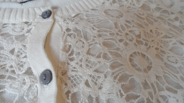 Primark cream lace front cardigan