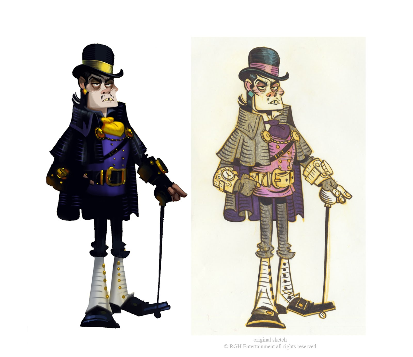 Art Director and Painter for 3D development (on the left) for designer's sketch (on the right)