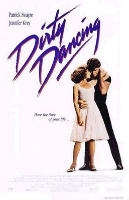 Cartel de la película Dirty Dancing, protagonizada por Patrick Swayze y Jennifer Grey