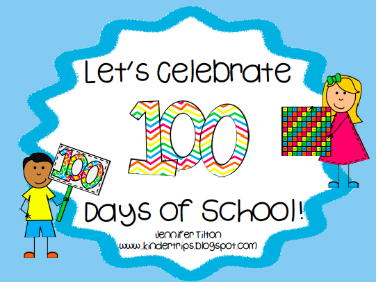 100th Day of School Clipart 100th Day of School Freebie