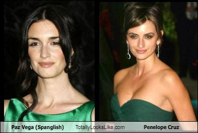 similiar twins paz vega with penelope cruz