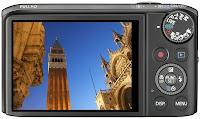 Canon PowerShot SX260 HS rear view