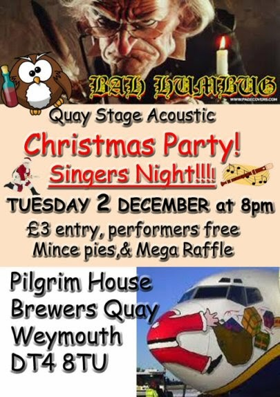 Quay Stage Acoustic Pilgrim House Weymouth Xmas Party 2nd Dec 2014