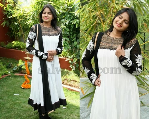 Tanusha White Long Salwar