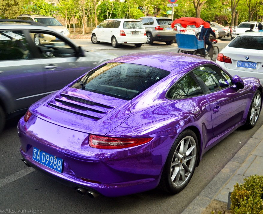 Shining Purple Porsche 991 Carrera S In China