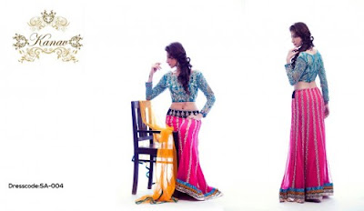 Kanav, trendy party wear collection 2015 for ladies, party dresses images