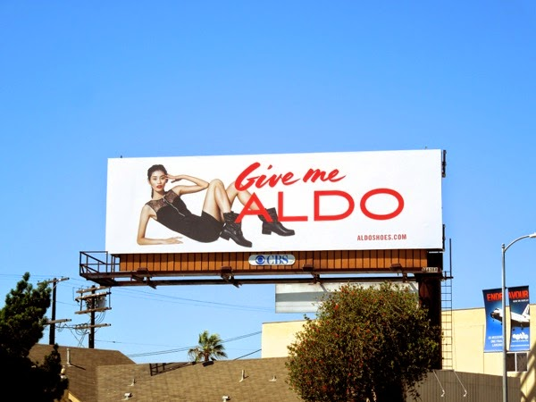 Give me Aldo billboard Sep 2013