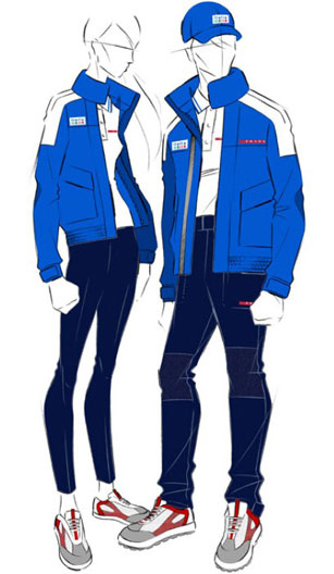 Prada olympic uniforms