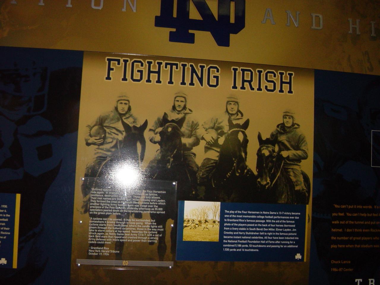 Four Horsemen Wall Gug Notre Dame