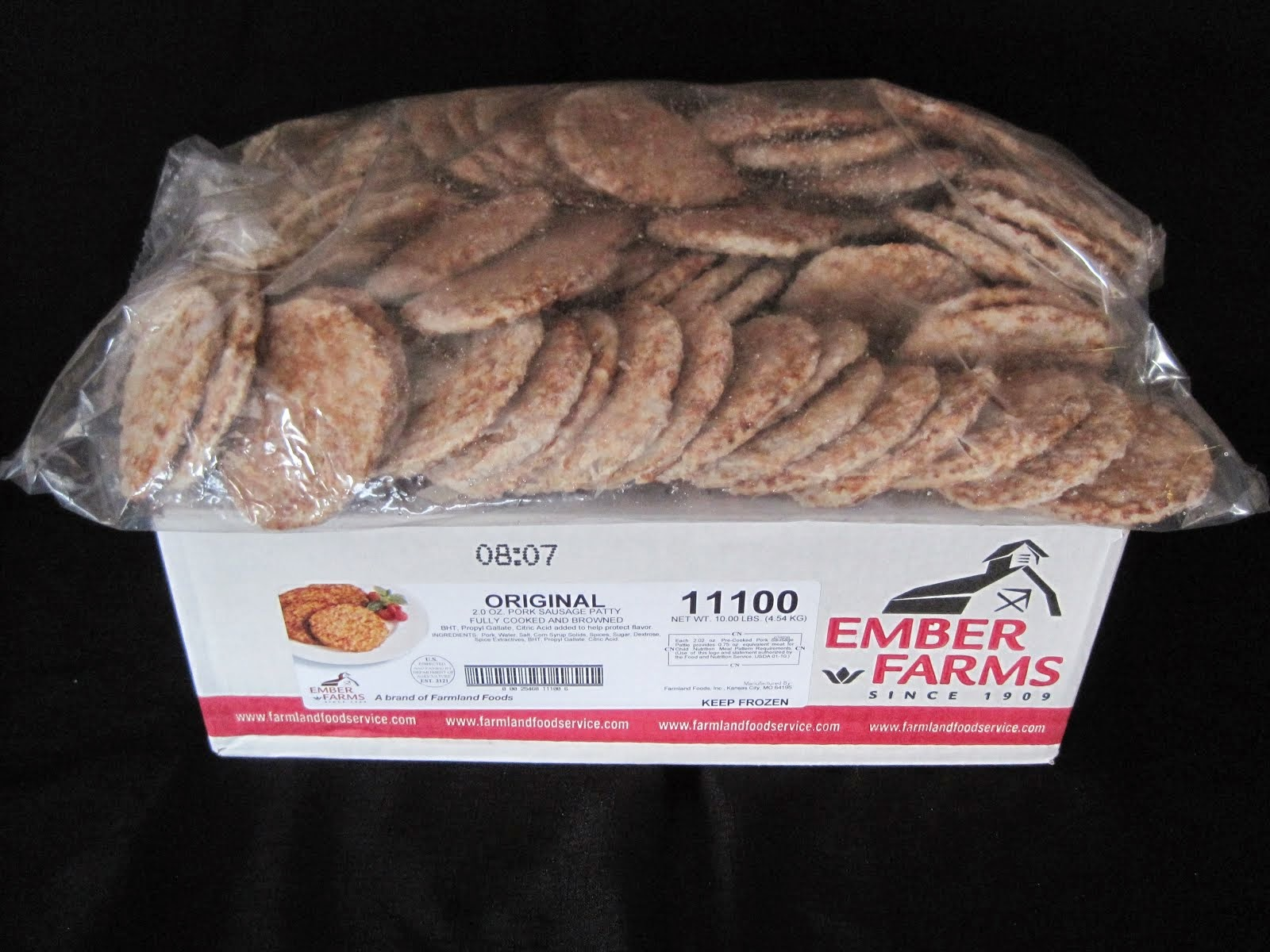 Ember Farms 2 oz Sausage Patties 10 lb - Item # 15930