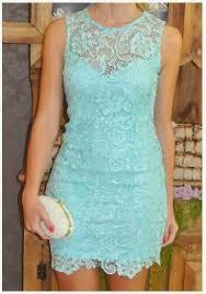 modelo de vestido curto de renda azul - dicas e fotos