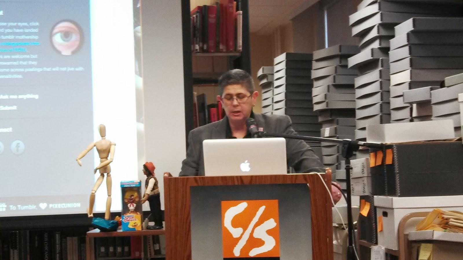 Professor Alicia Gaspar De Alba Giving Introductory Remarks