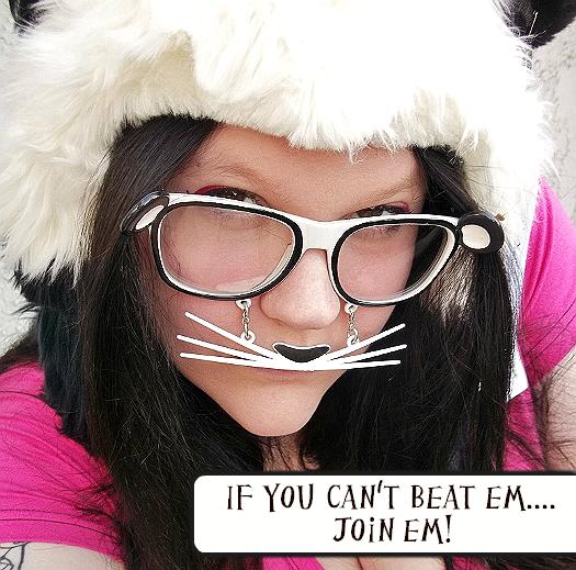Panda outfit, Panda Glasses, Panda Mustache
