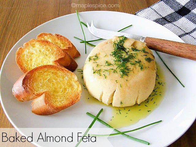 Baked Almond Feta - vegan recipe