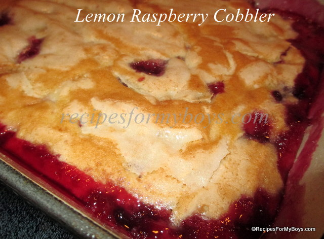 Lemon Raspberry Cobbler RecipesForMyBoys.com