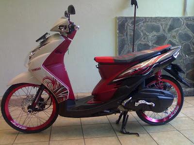 Mio Pelek 17 tdr   asik dan nyetrik Pelek 17 Yamaha Mio aliran Thai Look Style